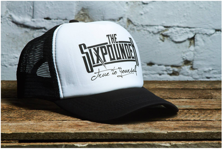 """Czapka z daszkiem THE SIXPOUNDER - """"True To Yourself"""" Truckers Hat WHITE"""